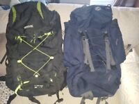 2 x large travelling backpacks, perfect condition, to be sold together or separate