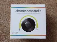 BRAND NEW SEALED Chromecast Audio - stream android, iphone, ipad, mac, windows over wifi