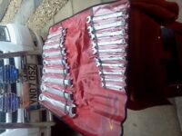 SNAPON 19pc METRIC COMBINATION SPANNER SET 7mm TO 32mm EXLLENT CONDITION £165