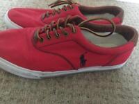 Red Ralph Lauren Men's shoes size 9