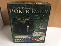 Deluxe Revolving Poker Rack