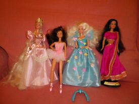 'Collectable' Barbies - four, all good condition