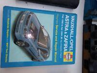Haynes Vauxhall Astra/Zafira workshop manual