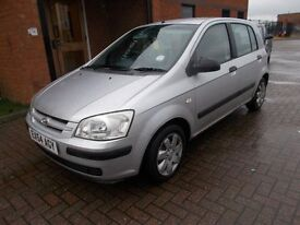HYUNDAI GETZ 1.1 GSI 5 DOOR (54) LONG MOT, P/X TO CLEAR.