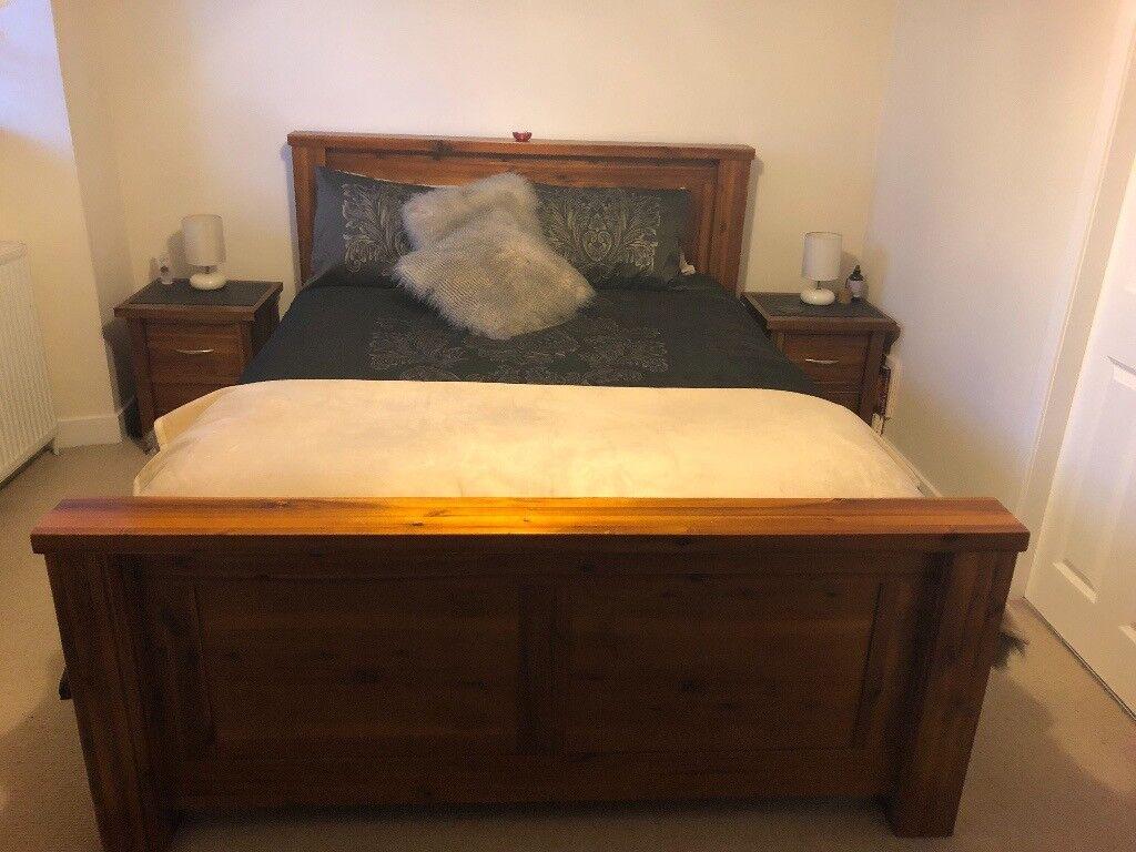Complete matching solid wood bedroom furniture set