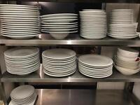 Selection of porcelain plates