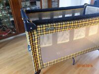 Mothercare Travel cot, excellent condition, hardly used