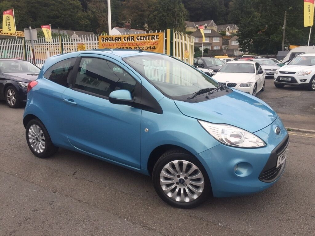 ford ka 1 2 zetec 3dr start stop blue 2010 in baglan. Black Bedroom Furniture Sets. Home Design Ideas