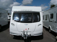 Price Reduced 2012 Lunar Conquest 534 Fixed Bed 4 Berth Caravan