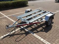 NEW 3 x Motorcycle Motorbike Trailer Tema Moto3 - 3 x Channel inc. Ramp 750kg