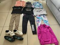 Girls Clothes and Shoe Bundle Size 8-10