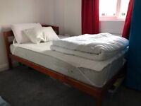 Double bed wooden frame (Canton)