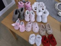 10 PAIRS BABY BOOTS/SHOES,0-3/3-6 MONTHS
