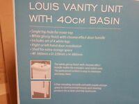 Estilo White Louis Vanity Unit with Basin
