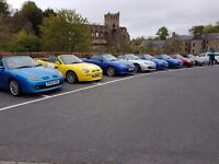 MG F&TF UK owners club,annual run,22nd July