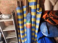 Windbreaks for Caravanning or Camping. 5 in total with good stakes.