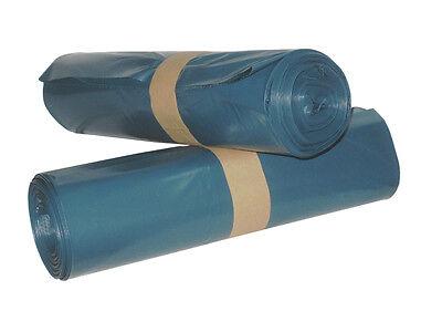 200 Garbage Sacks Extra Strong 120 Ltr. Type 100 Waste Bag Blue Plastic
