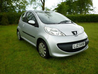 Peugeot 107 1.0 Urban Very Low Milage 36500 Miles MOT until May 2017 Sliver £20 Tax Dec 2006 3 Door