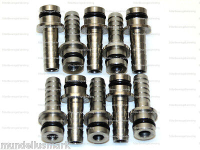 10 New 14 Straight Stainless Steel Manifold Input Fittings Wunder-bar Pm10-9