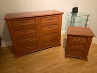 Chester drawer & bedside cabinet solid wood
