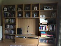 Entertainment Storage Unit Book Cases