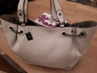 New ladies large shopper bag cream colour leather effect from Next new with tags