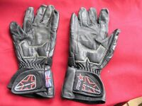 Pair Black Leather Small Motor Cycle Groves RST Weymouth