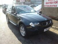 BMW X3 D SE,turbo diesel 5 door hatchback,6 speed,FSH,full leather interior,very clean tidy Jeep