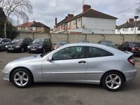 55 plate Mercedes coupe c 160 face lift 1,8 petrol 91,000 miles Superb condition
