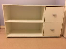 Wooden, White storage cupboard