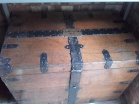 lovely old wooden chest