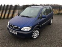 2004 04 VAUXHALL ZAFIRA 1.8 DESIGN *7 SEATER* M.P.V - *ONLY 82,000 MILES* - MAY 2017 M.O.T!