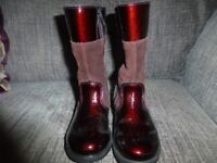 Fantastic Ricosta Hannah Girls Leather plum coloured Boots size 8.5 infant