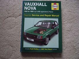 Vauxhall Nova Haynes Manual