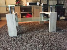 Glass coffee table nearly new moving need gone in Brentwood Essex