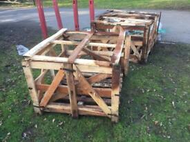 Crate pallet firewood possibly a log store or compost heap? FREE