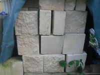 Textured finished concrete/building blocks