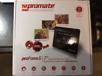 "Promate 7"" Digital Photo Frame for showing multiple photos & videos"