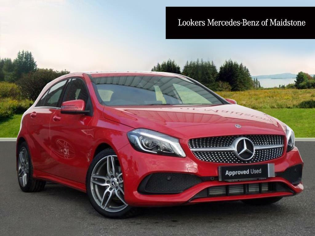 mercedes benz a class a 180 amg line premium red 2017 10. Black Bedroom Furniture Sets. Home Design Ideas