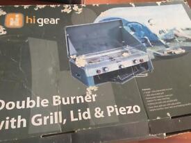 Higear double burner + grill