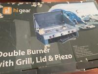 Higear double burner + grill