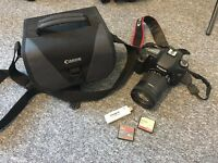 Canon EOS 7D Digital SLR Camera + EF-S 18-135 mm f/3.5-5.6 IS Lens + Bag + 2 cards (4GB & 32GB)