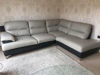 Leather sofa / corner suite
