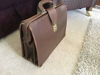 1960's leather briefcase