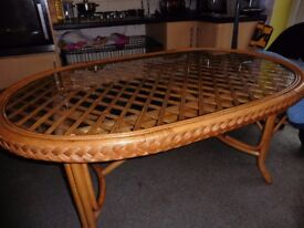 Cane Dining Table