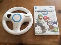 Wii Mario Kart and Wii Steering Wheel