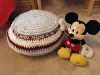 HANDMADE BY ME. GIANT POUF from Bournville (BASKET, POUF, POUFFE, CHAIR...)