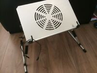 Laptop Fan Cooler USB Connection For Ease..Adjustable Stand/Feet!! USED GOOD!!