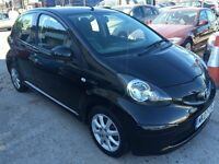 Toyota Aygo 1.0 VVT-i Black 5dr£2,495 p/x welcome 1 YEAR FREE WARRANTY. NEW MOT
