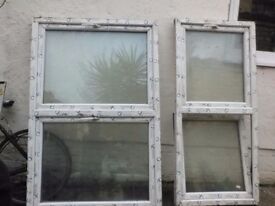 "15 PVC WINDOWS NEW STILL IN PLASTIC, 10@ 30 1/2""x 67 1/2"" & 5@ 44""x67 1/2"" can be sold separately."